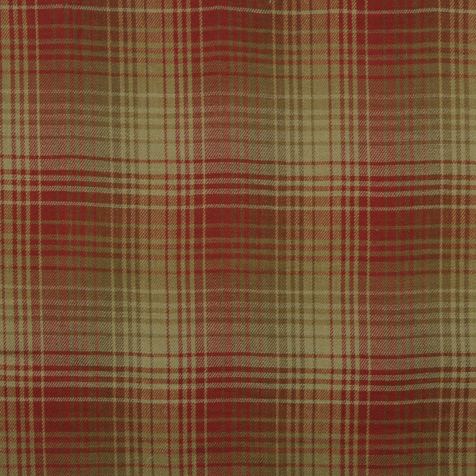 RUSTIC STRIPES AND PLAIDS UPH Pampas Plaid Fabric - Spice