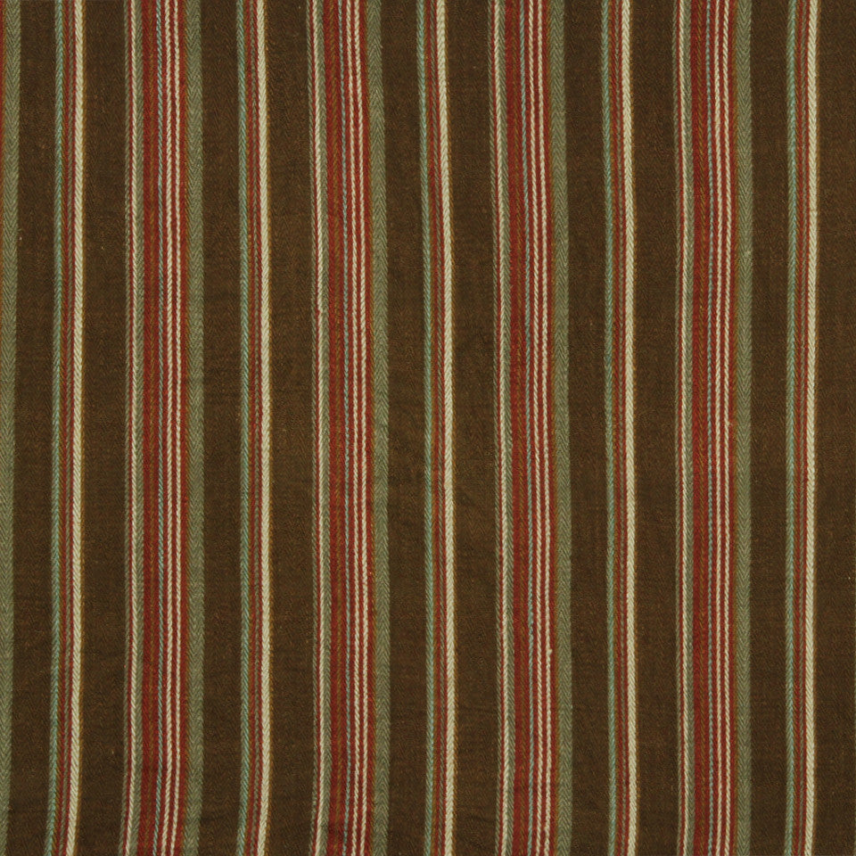 RUSTIC STRIPES AND PLAIDS UPH Gaucho Stripe Fabric - Saddle