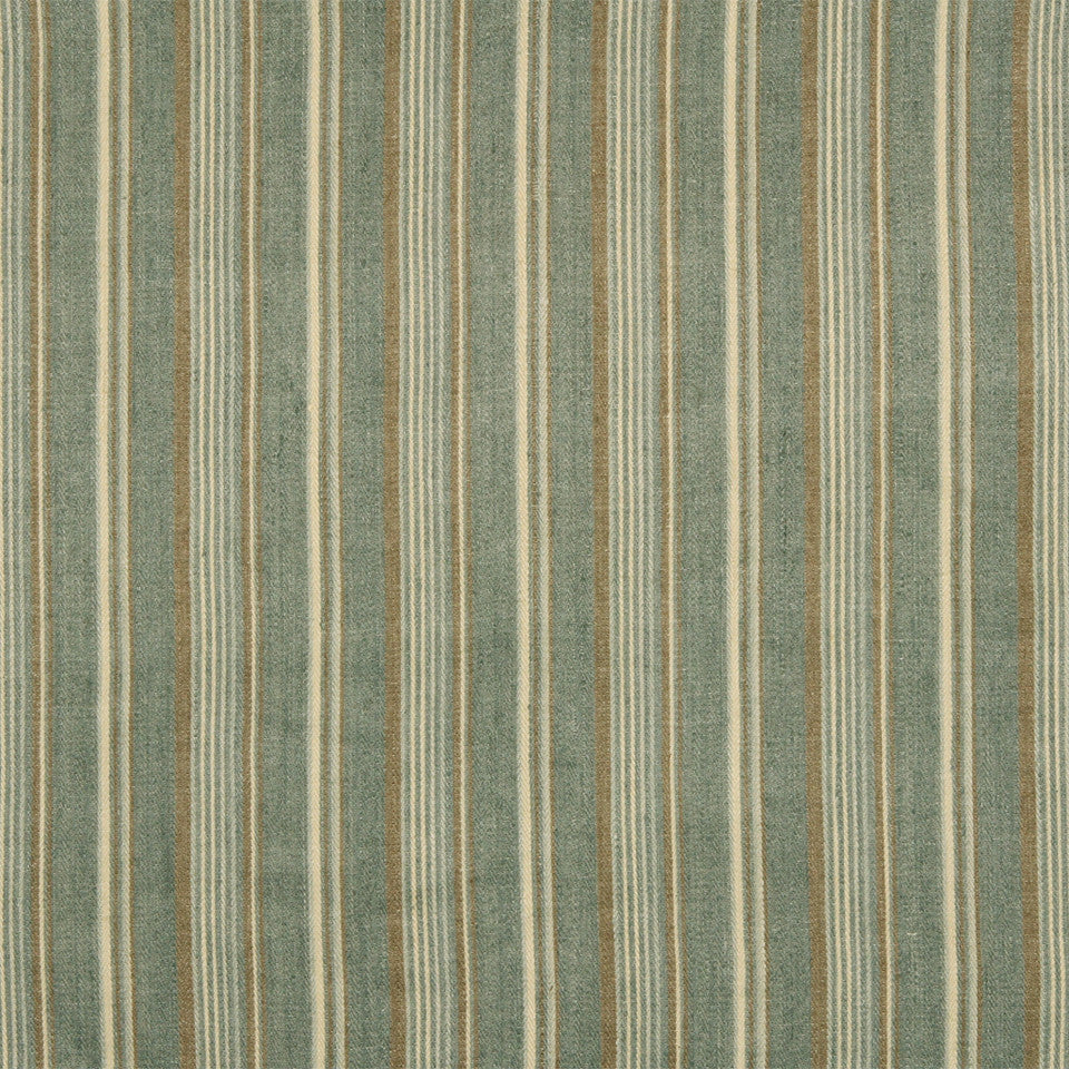 RUSTIC STRIPES AND PLAIDS UPH Gaucho Stripe Fabric - Lake
