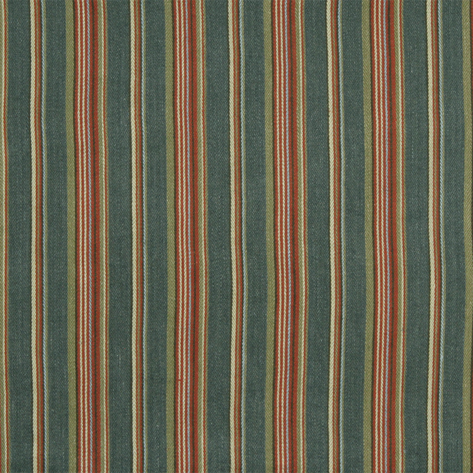 RUSTIC STRIPES AND PLAIDS UPH Gaucho Stripe Fabric - Slate Gray