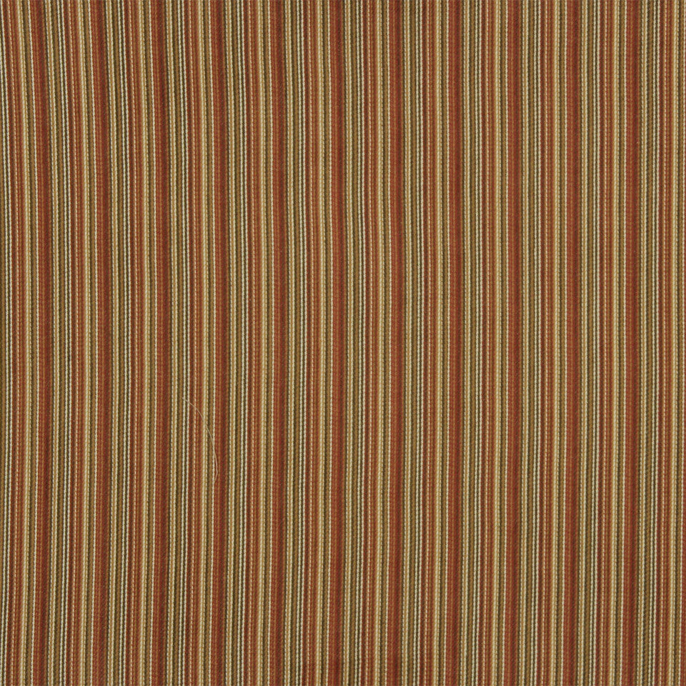 RUSTIC STRIPES AND PLAIDS UPH Banook Stripe Fabric - Clay