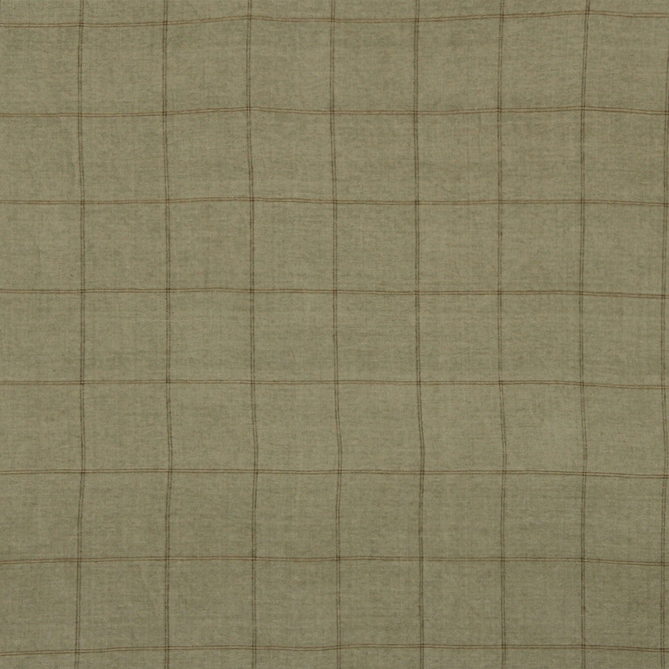 RUSTIC STRIPES AND PLAIDS MP Balsam Plaid Fabric - Sandstone
