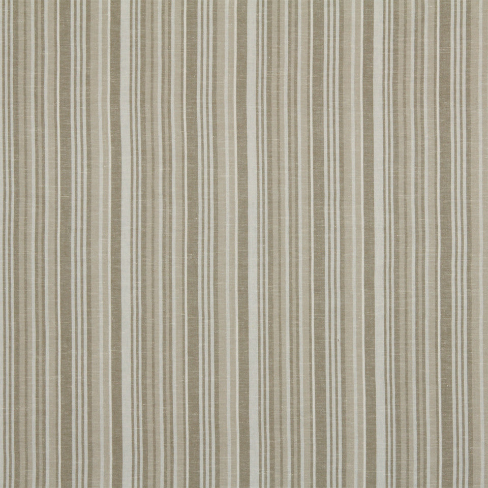 RUSTIC STRIPES AND PLAIDS MP Alice Stripe Fabric - Linen