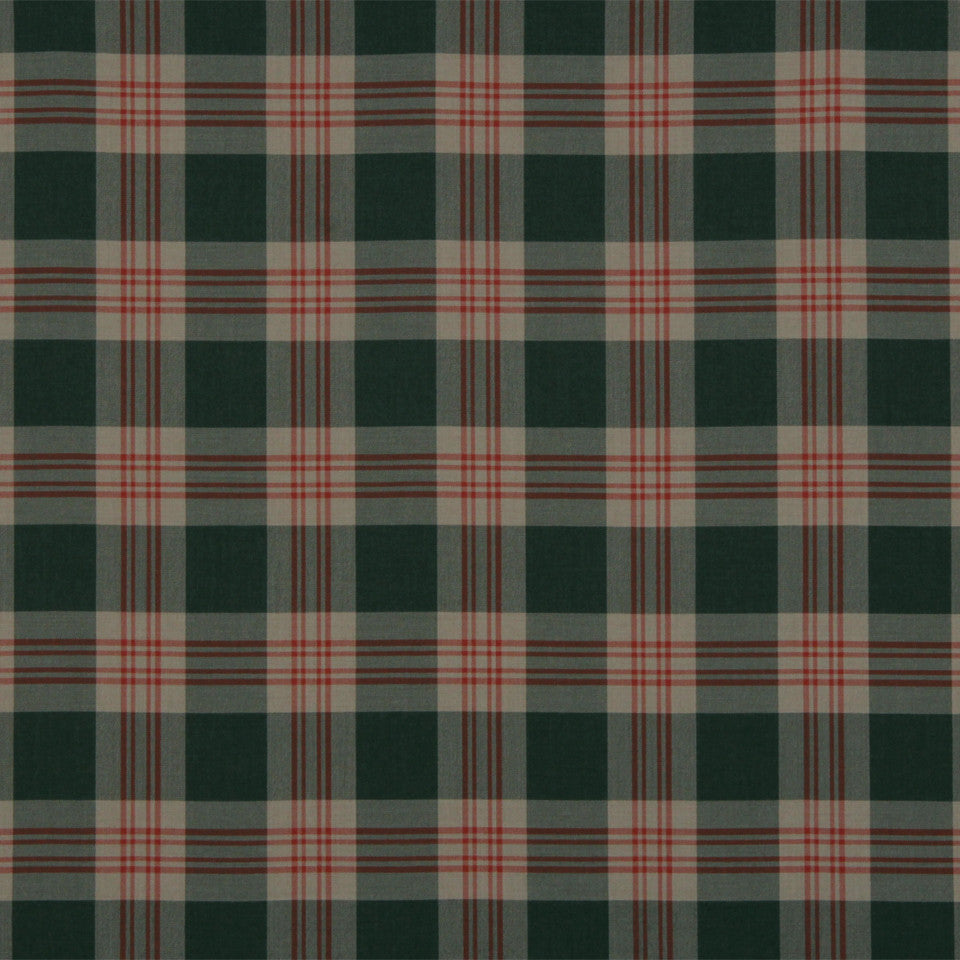 RUSTIC STRIPES AND PLAIDS MP Grant Plaid Fabric - Charcoal