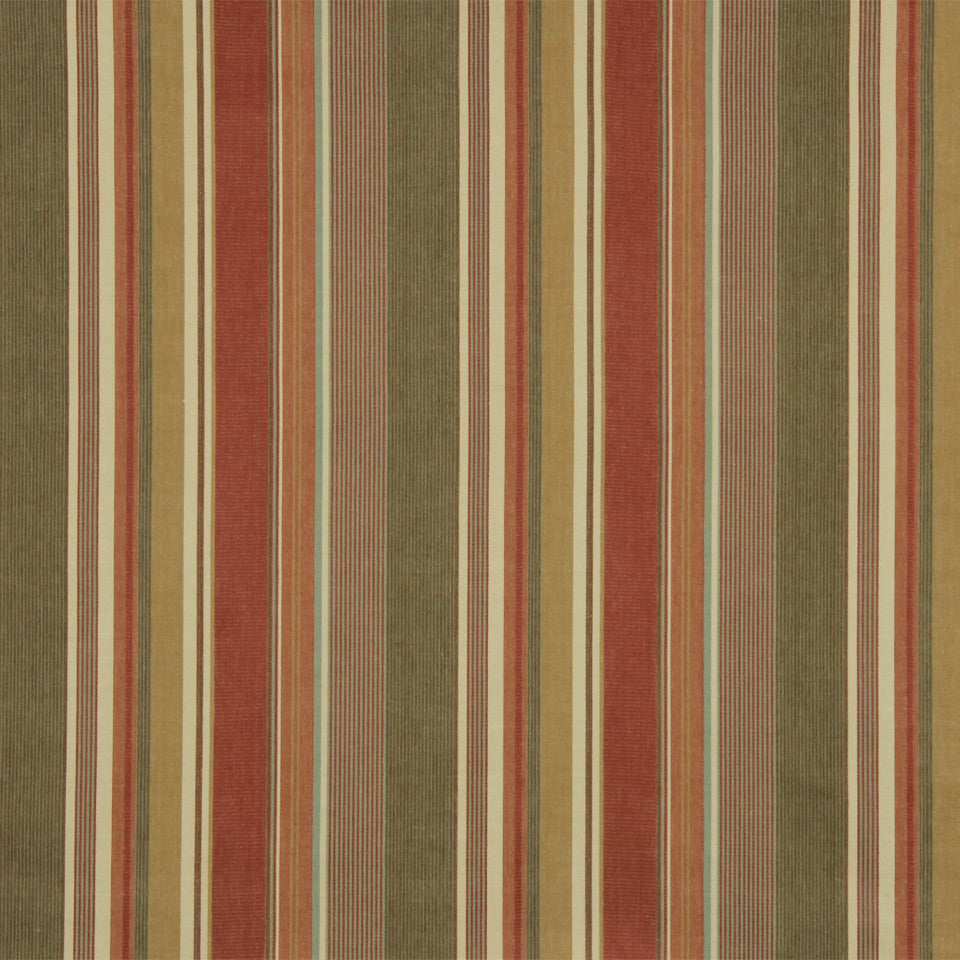 RUSTIC STRIPES AND PLAIDS UPH Dixon Stripe Fabric - Clay