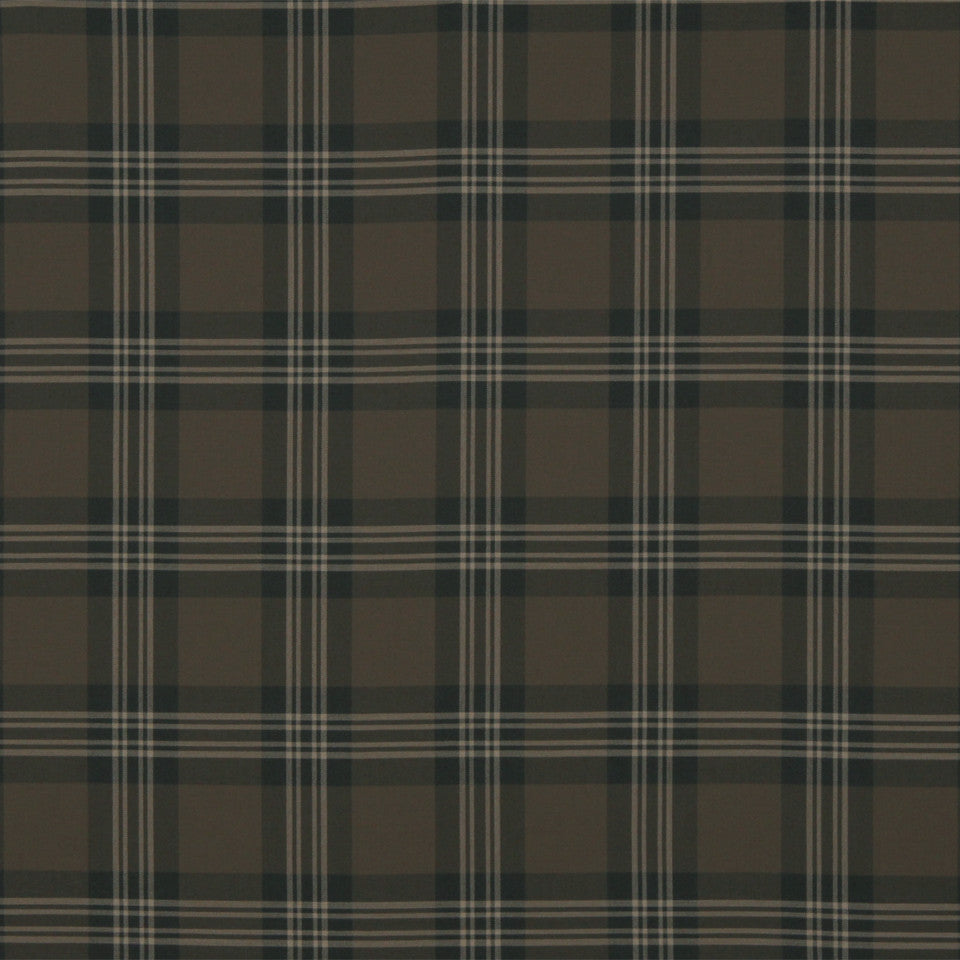 RUSTIC STRIPES AND PLAIDS MP Grant Plaid Fabric - Navy
