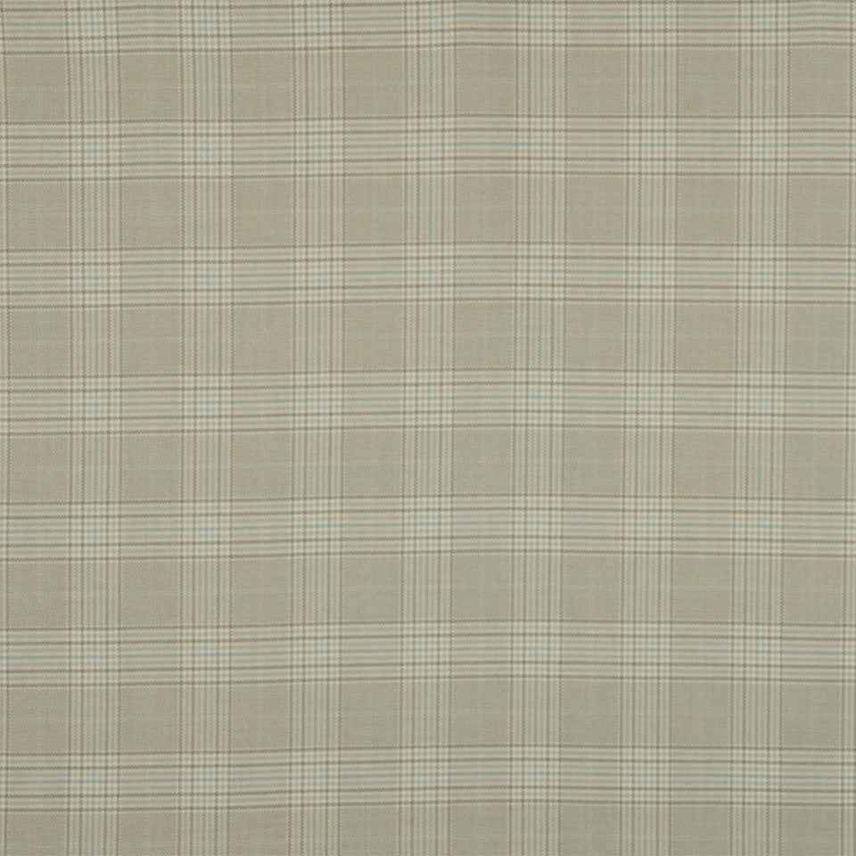 RUSTIC STRIPES AND PLAIDS UPH Sinclair Plaid Fabric - Ice