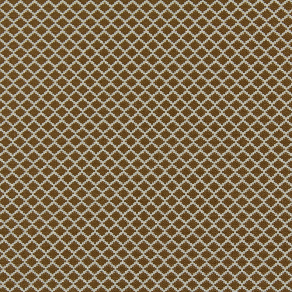 DWELLSTUDIO MODERN LUXURY Step Trellis Fabric - Camel