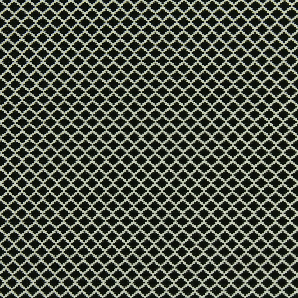 DWELLSTUDIO MODERN LUXURY Step Trellis Fabric - Ebony