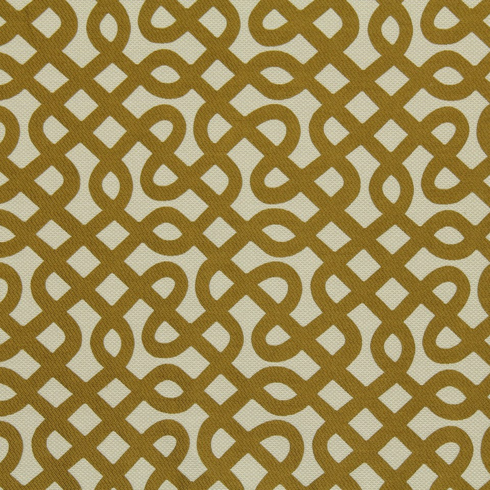 DWELLSTUDIO MODERN LUXURY Graphic Maze Fabric - Citrine
