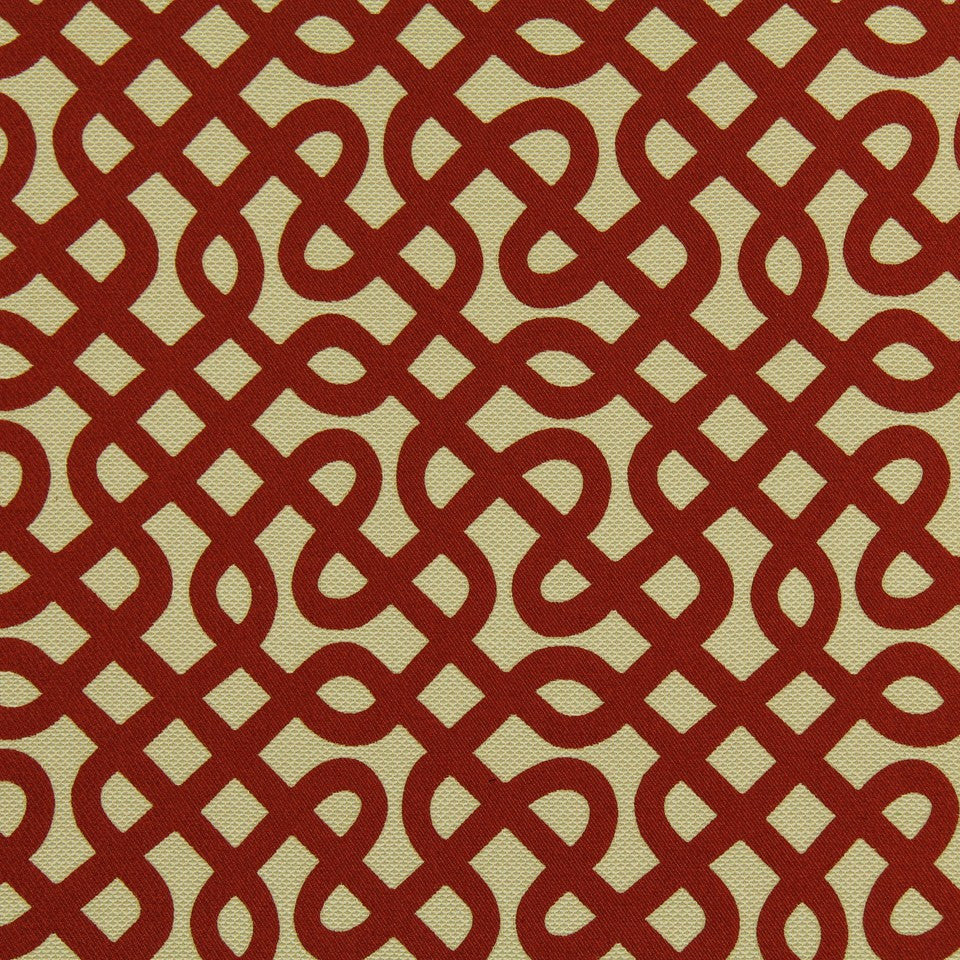 DWELLSTUDIO MODERN LUXURY Graphic Maze Fabric - Scarlet