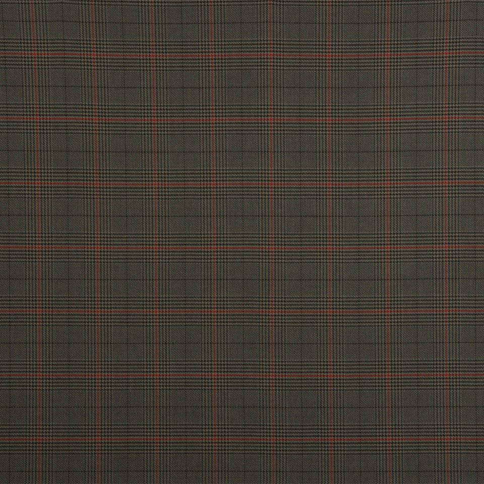 RUSTIC STRIPES AND PLAIDS UPH Sinclair Plaid Fabric - Slate Gray