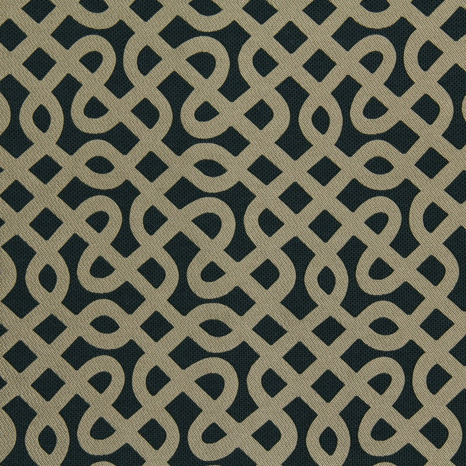DWELLSTUDIO MODERN LUXURY Graphic Maze Fabric - Cobalt