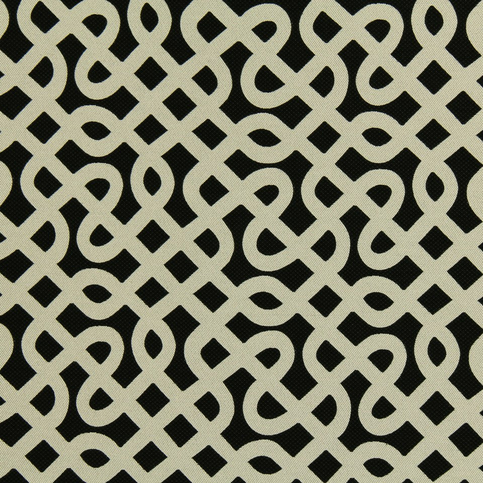 DWELLSTUDIO MODERN LUXURY Graphic Maze Fabric - Ebony
