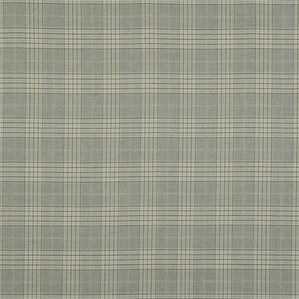 RUSTIC STRIPES AND PLAIDS UPH Sinclair Plaid Fabric - Pewter