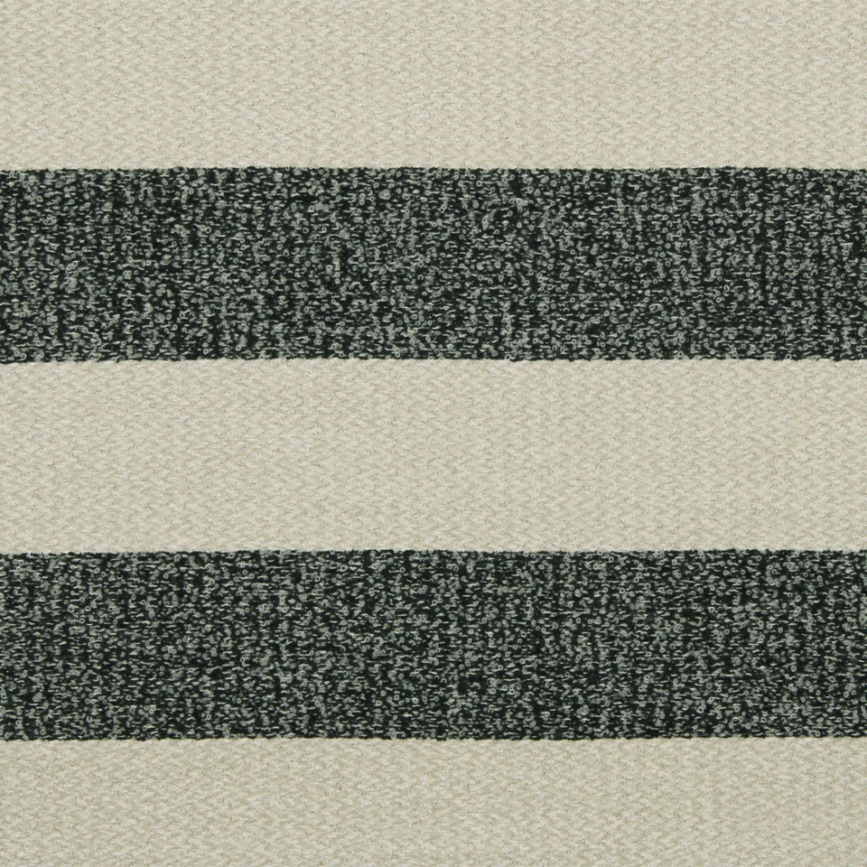 RUSTIC STRIPES AND PLAIDS UPH Halifax Stripe Fabric - Ebony