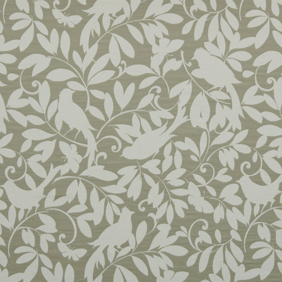 TUXEDO-STONE-MINK Leaf Point Fabric - Cloud