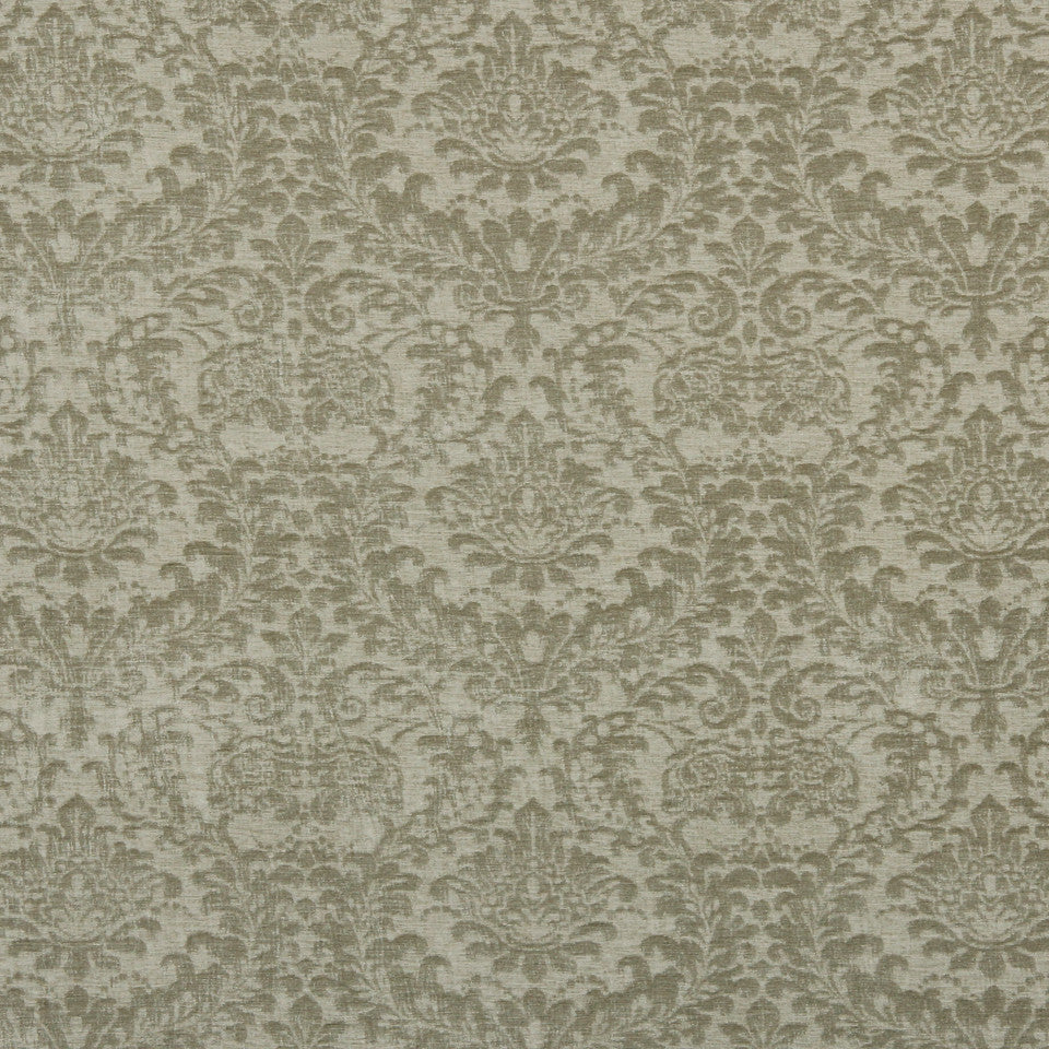 TUXEDO-STONE-MINK Floral Crush Fabric - Nickel