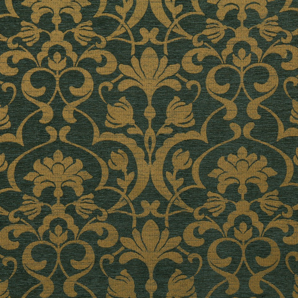 CRYPTON TRANSITIONAL Modern Frame Fabric - Denim