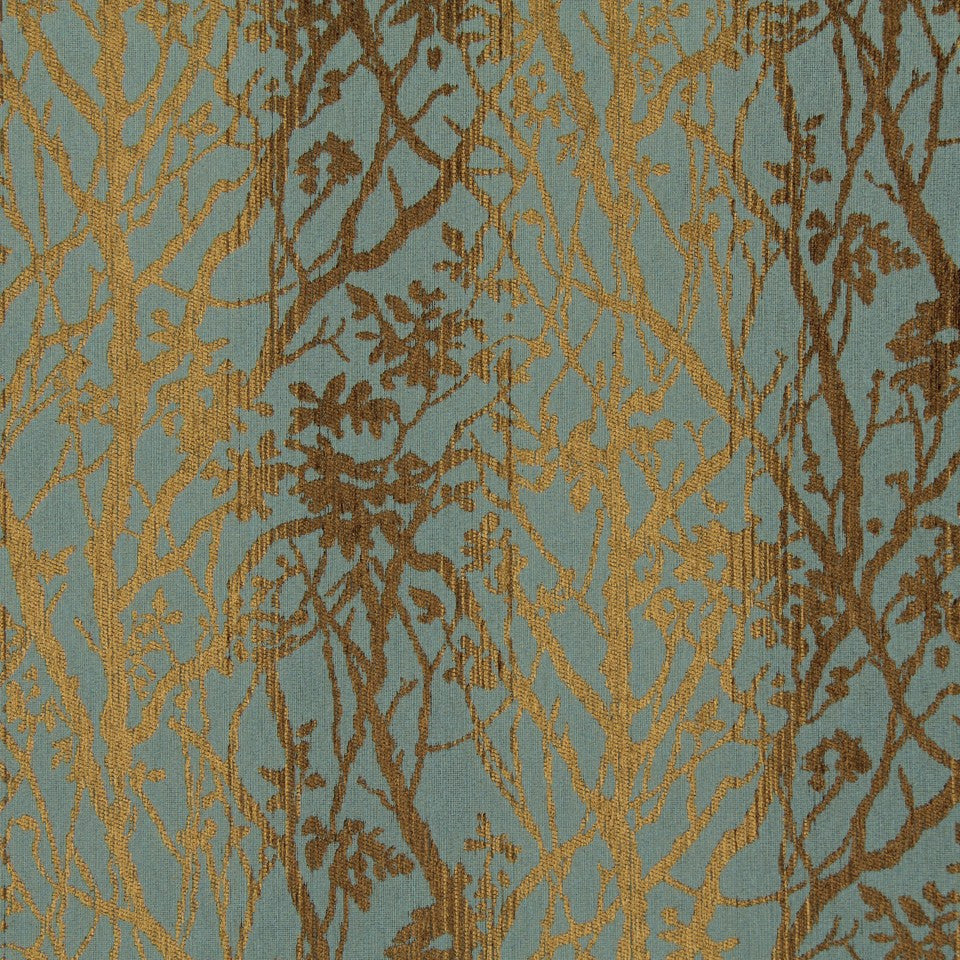 CRYPTON TRANSITIONAL Soft Vines Fabric - Chambray