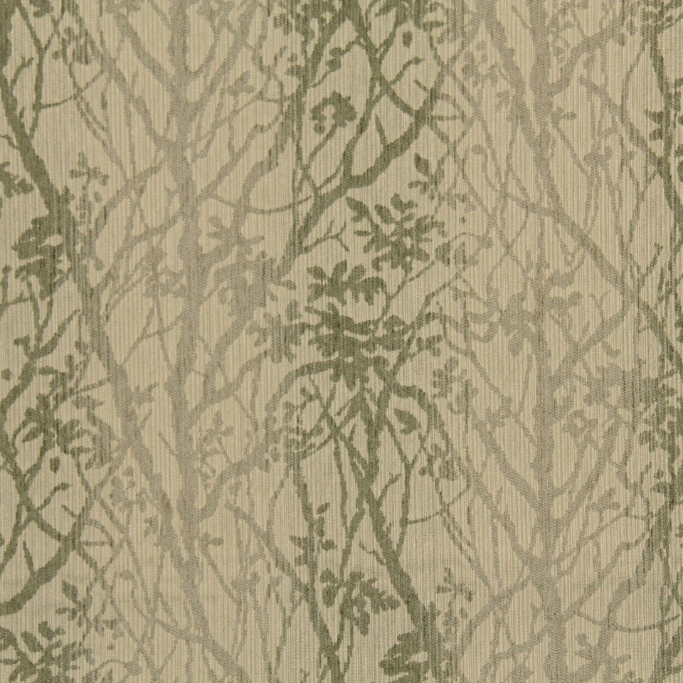CRYPTON TRANSITIONAL Soft Vines Fabric - Twine