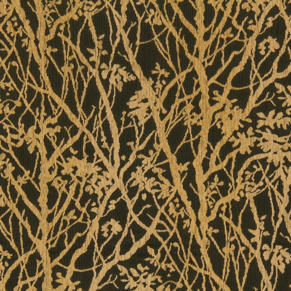 CRYPTON TRANSITIONAL Soft Vines Fabric - Amber