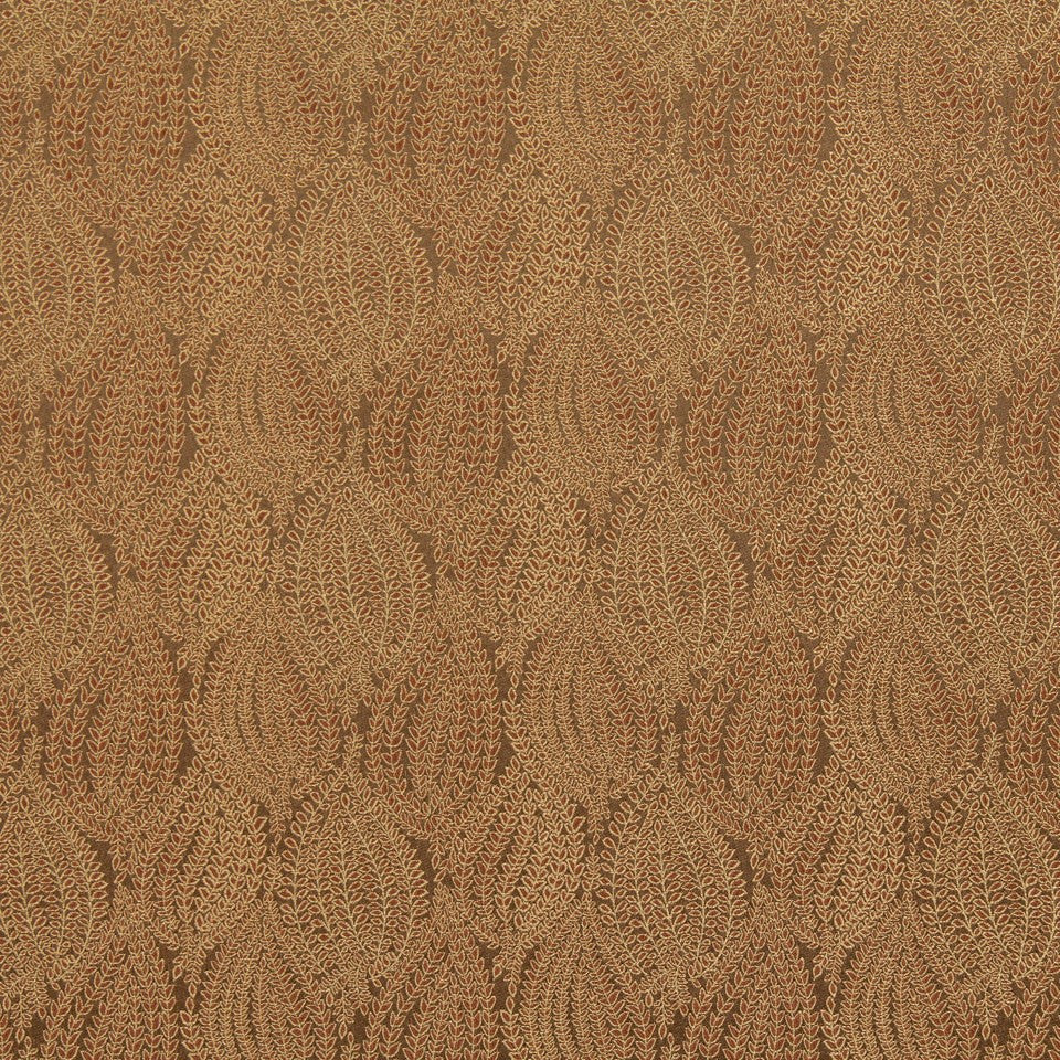 CRYPTON TRANSITIONAL Leaf Pod Fabric - Teak