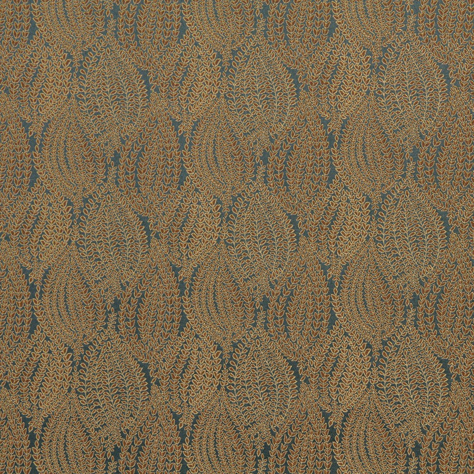 CRYPTON TRANSITIONAL Leaf Pod Fabric - Chambray