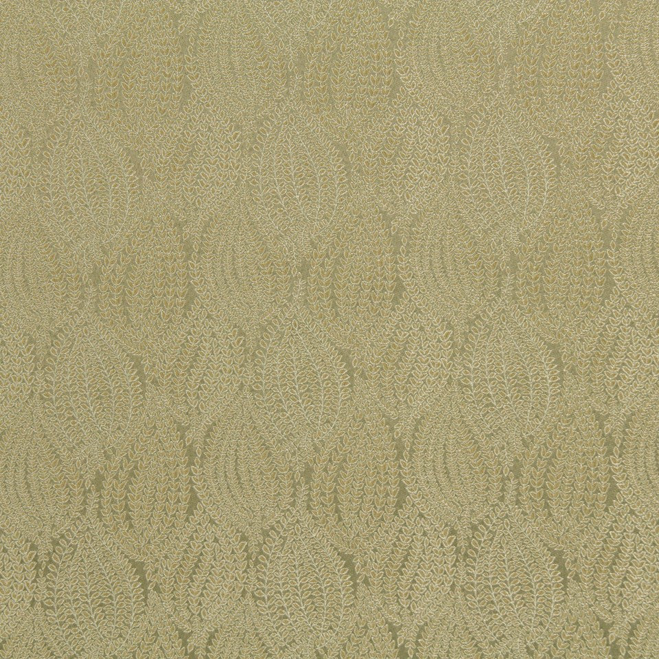CRYPTON TRANSITIONAL Leaf Pod Fabric - Sterling