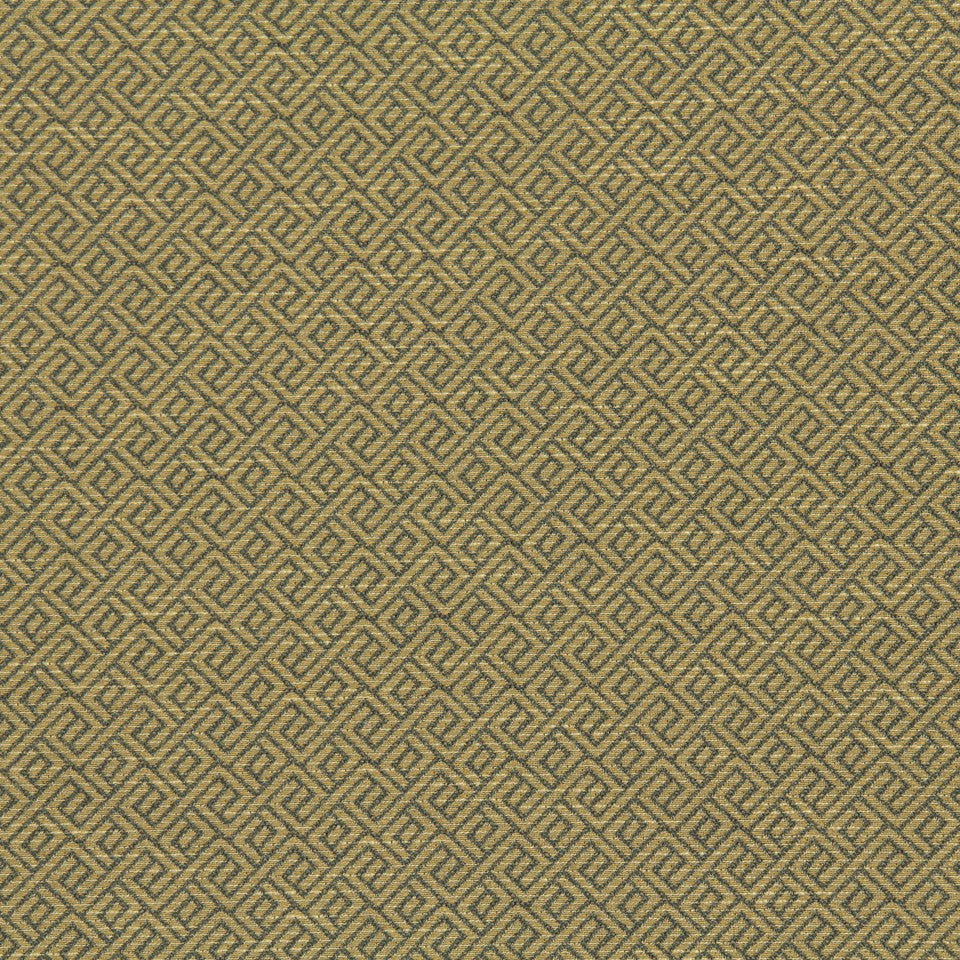 CRYPTON TRANSITIONAL Wave Maze Fabric - Slate