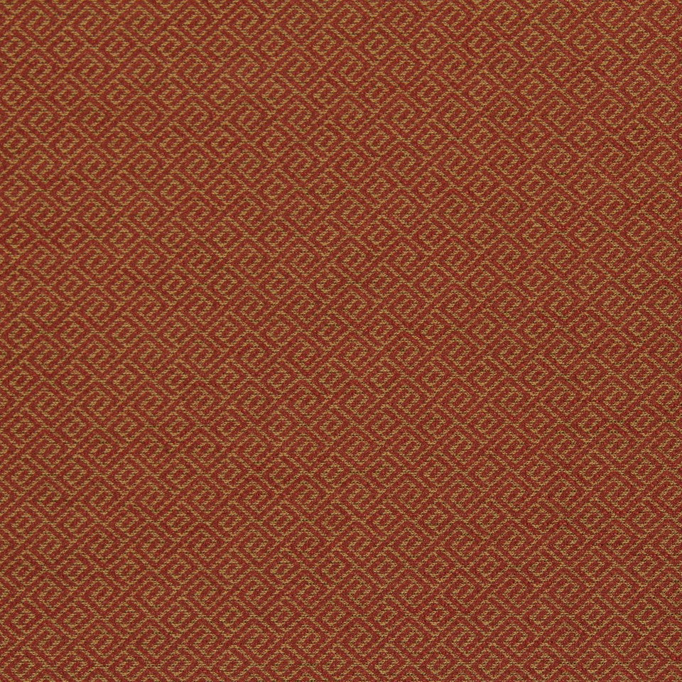 CRYPTON TRANSITIONAL Wave Maze Fabric - Pomegranate