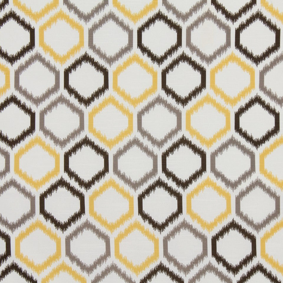 DWELLSTUDIO GLOBAL MODERN LUXE Ikat Trellis Fabric - Citrine
