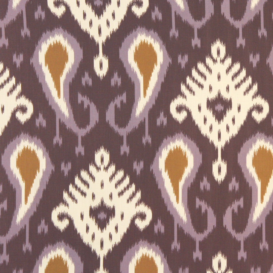 DWELLSTUDIO GLOBAL MODERN LUXE Batavia Ikat Fabric - Amethyst