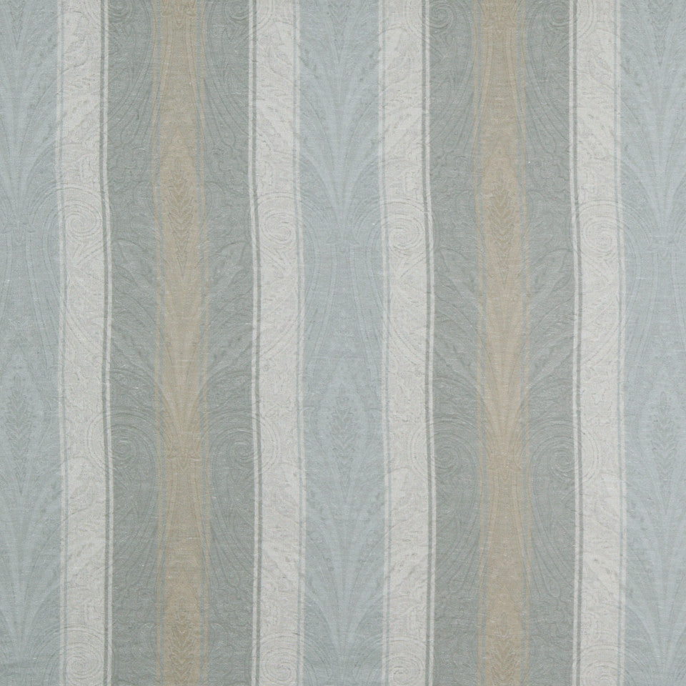 RUSTIC STRIPES AND PLAIDS MP Lovett Stripe Fabric - Slate Linen