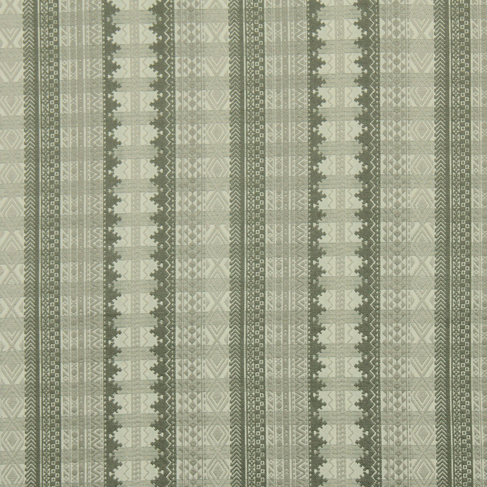 RUSTIC STRIPES AND PLAIDS UPH Philippe Plaid Fabric - Pewter