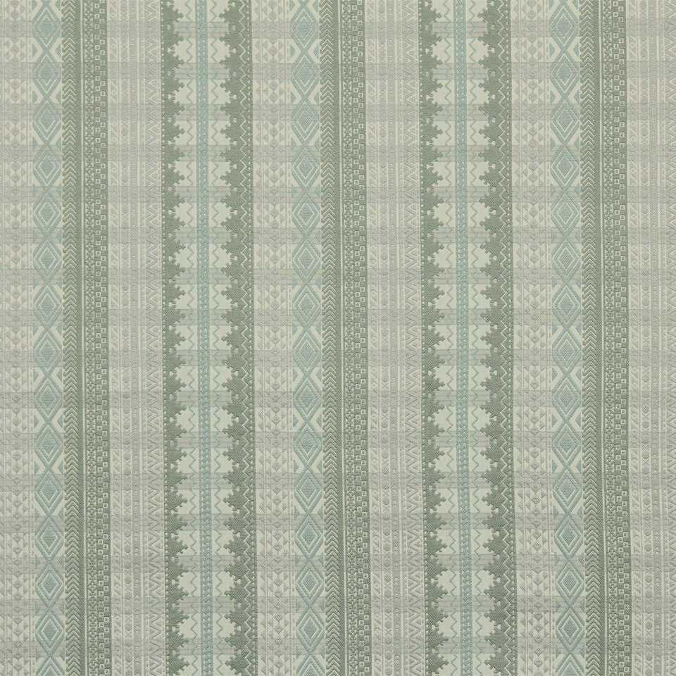 RUSTIC STRIPES AND PLAIDS UPH Philippe Plaid Fabric - Sky Linen