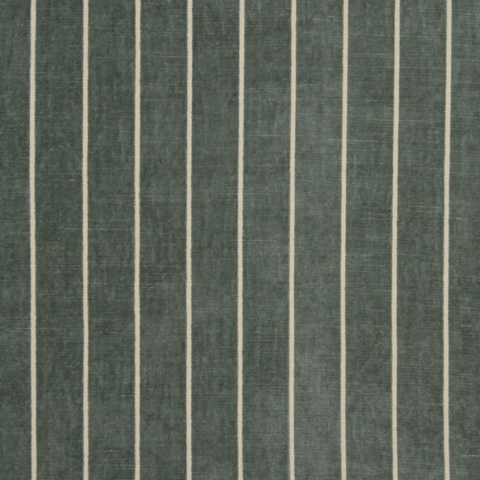 RUSTIC STRIPES AND PLAIDS UPH Flaxen Stripe Fabric - Lake