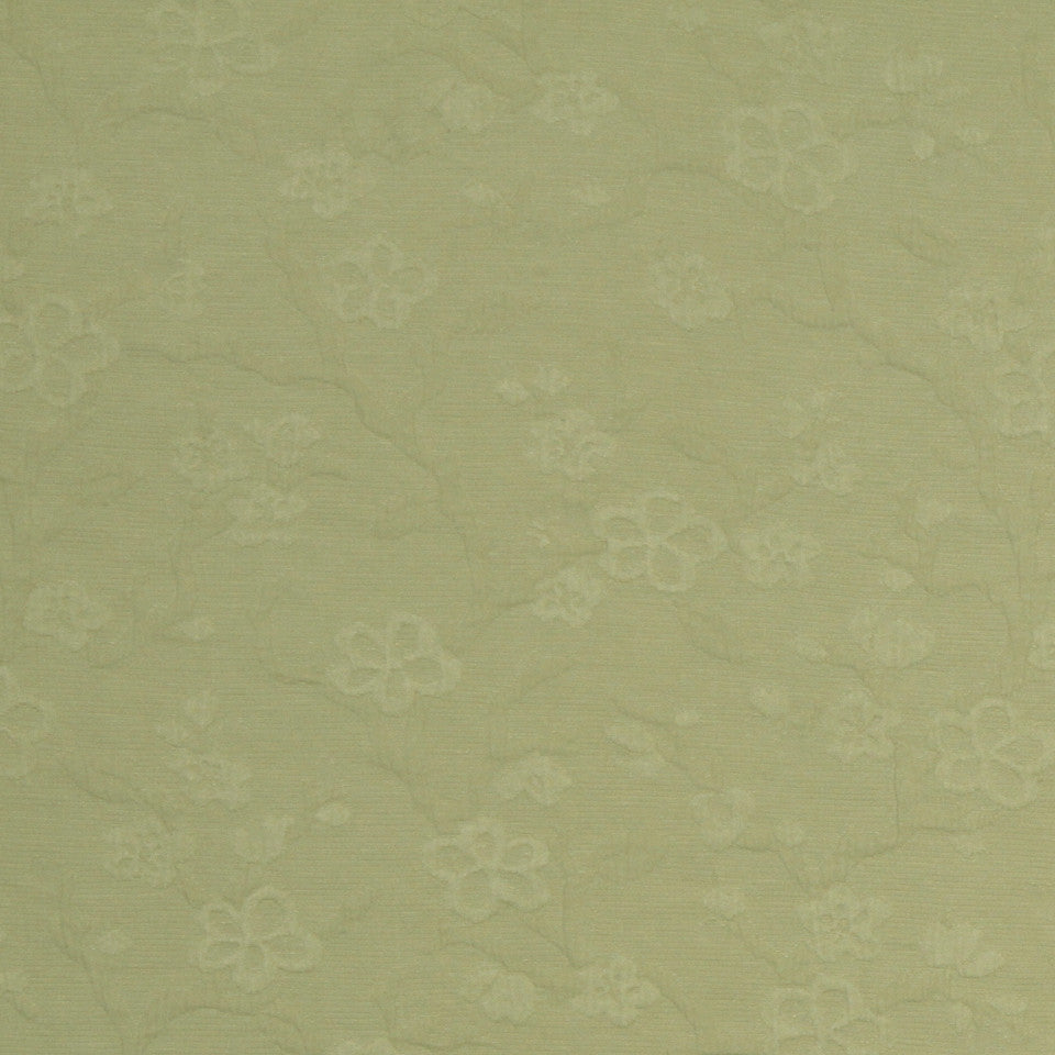 SUNSET-HENNA-BERRY Early Blossom Fabric - Leek