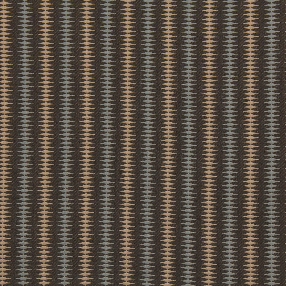 DWELLSTUDIO MODERN LUXURY Bead Stripe Fabric - Ash