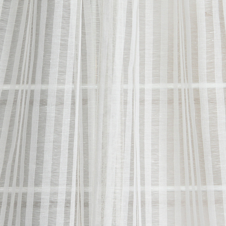 NATURAL SHEERS LIGHT NEUTRALS Delicate Weave Fabric - Cloud