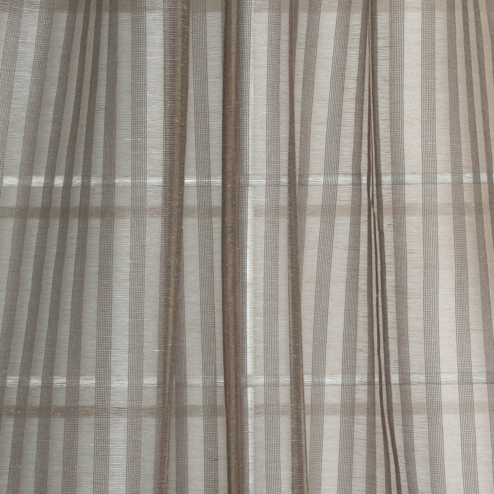 NATURAL SHEERS DARK NEUTRALS Delicate Weave Fabric - Dusk