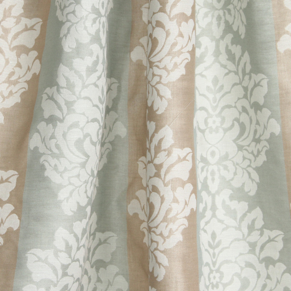 NATURAL SHEERS LIGHT NEUTRALS Faint Florals Fabric - Dune