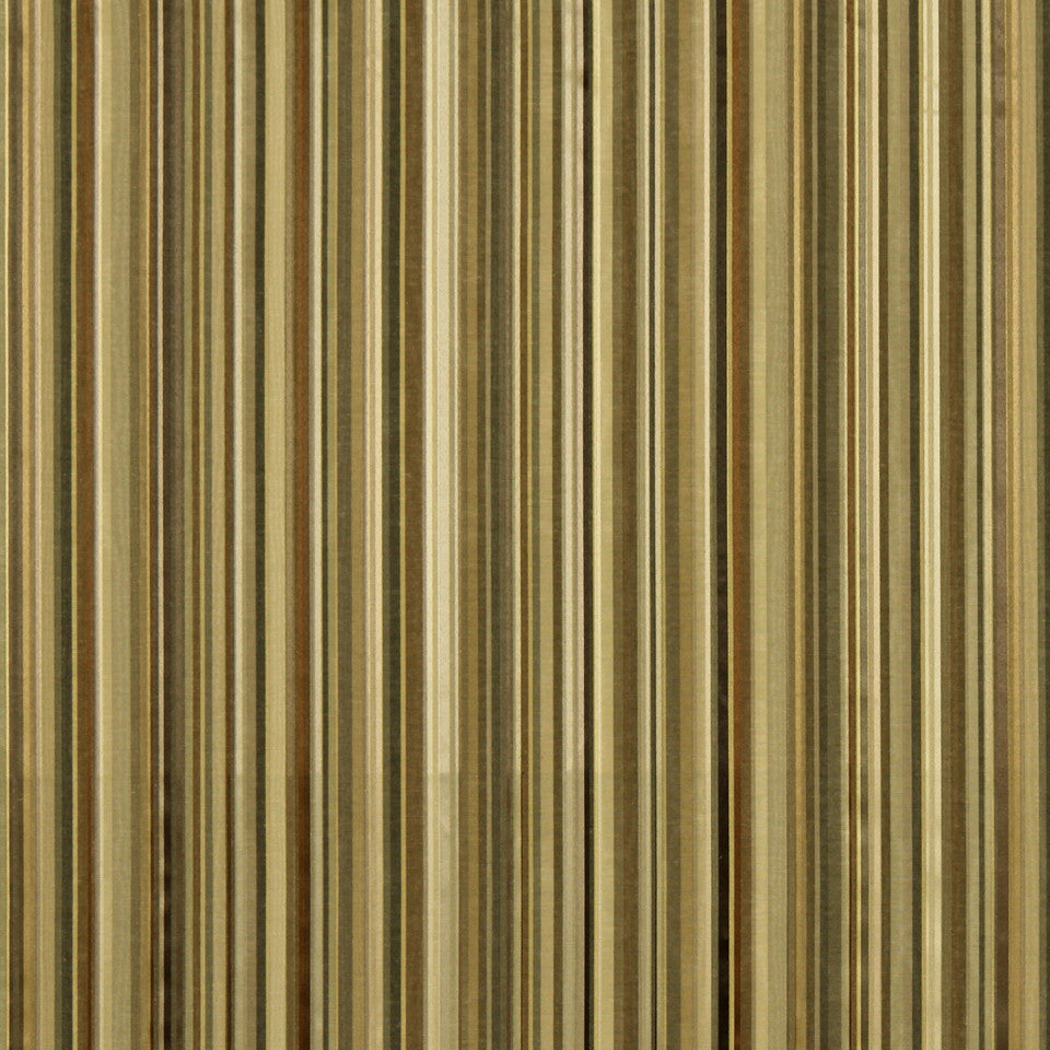 WARM Berra Stripe Fabric - Chestnut