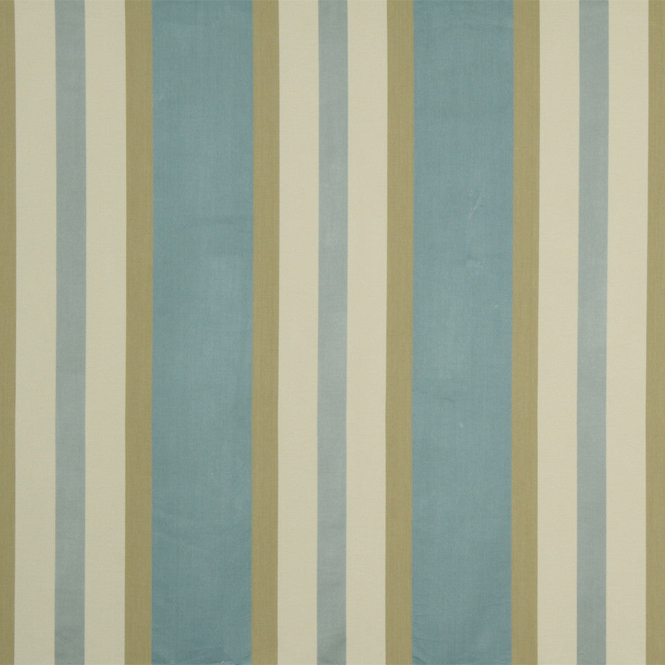 RUSTIC STRIPES AND PLAIDS UPH Julian Stripe Fabric - Bay Blue