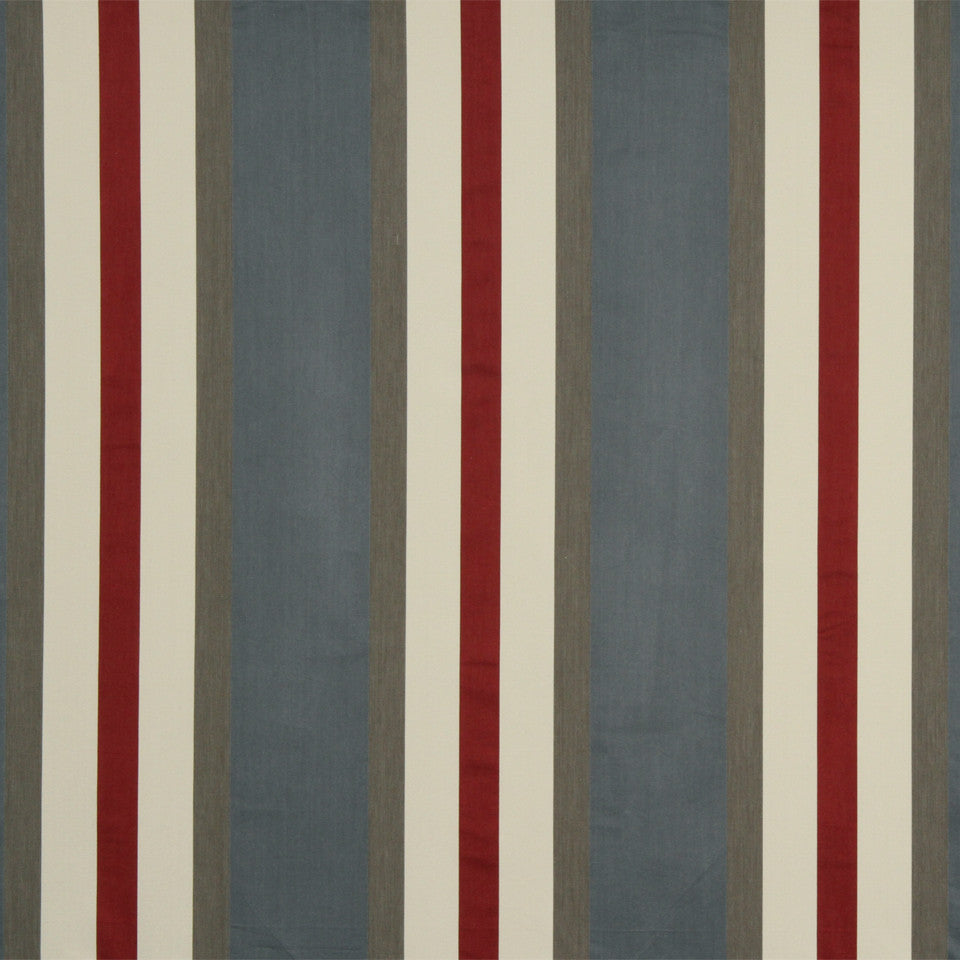 RUSTIC STRIPES AND PLAIDS UPH Julian Stripe Fabric - Slate Gray