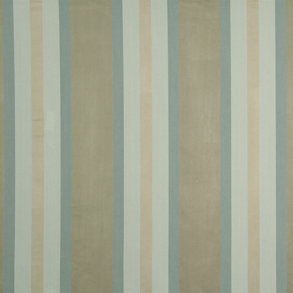 RUSTIC STRIPES AND PLAIDS UPH Julian Stripe Fabric - Sky Linen