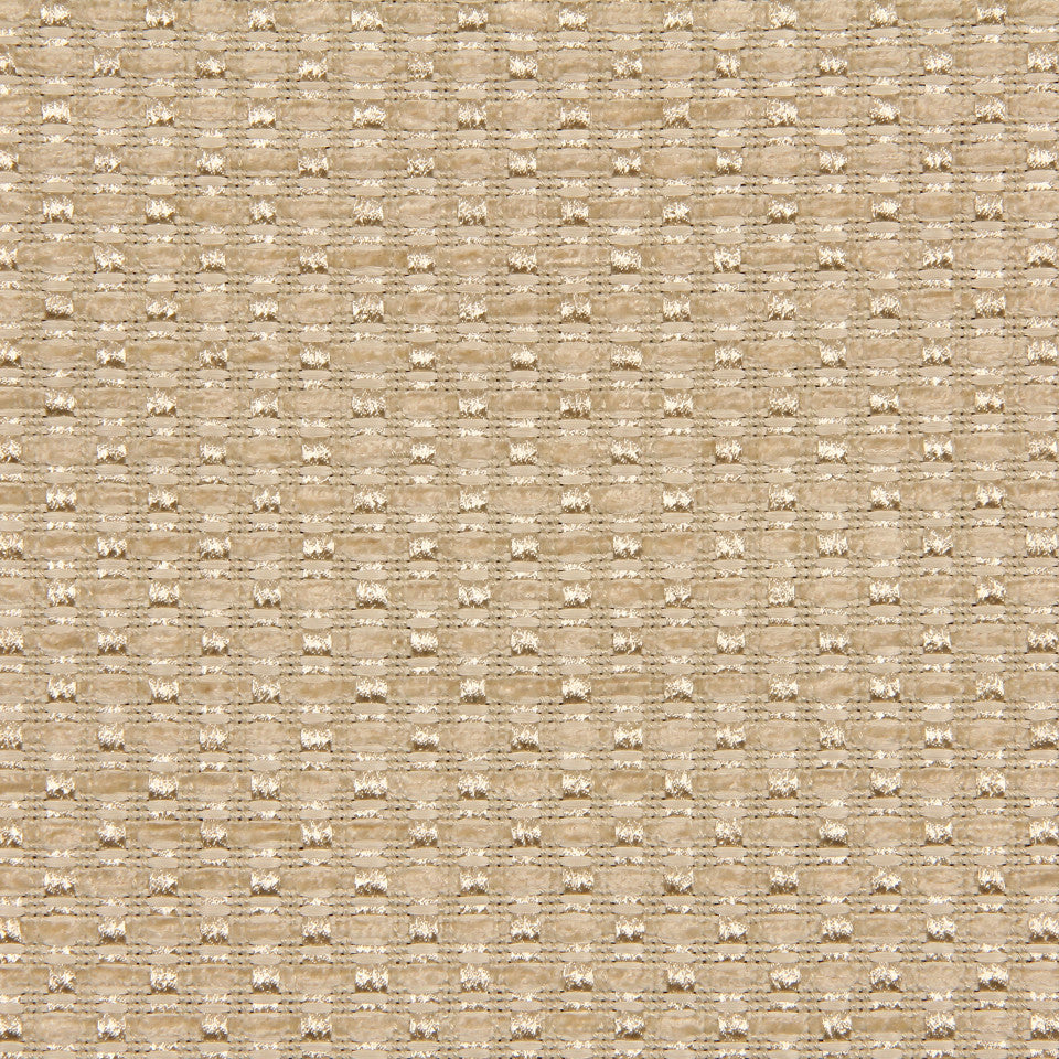 PLUSH CHENILLE SOLIDS Gilded Raffia Fabric - Ivory