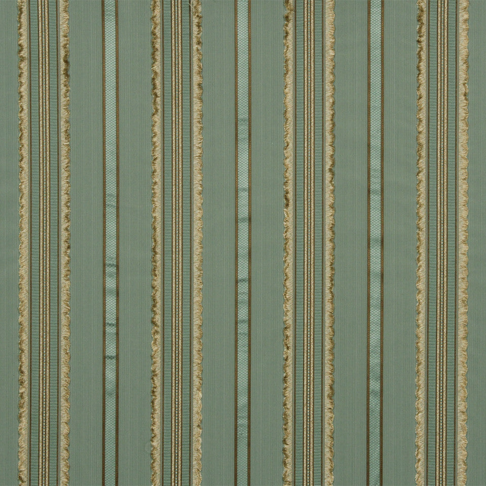 RUSTIC STRIPES AND PLAIDS UPH Largo Cay Fabric - Lake