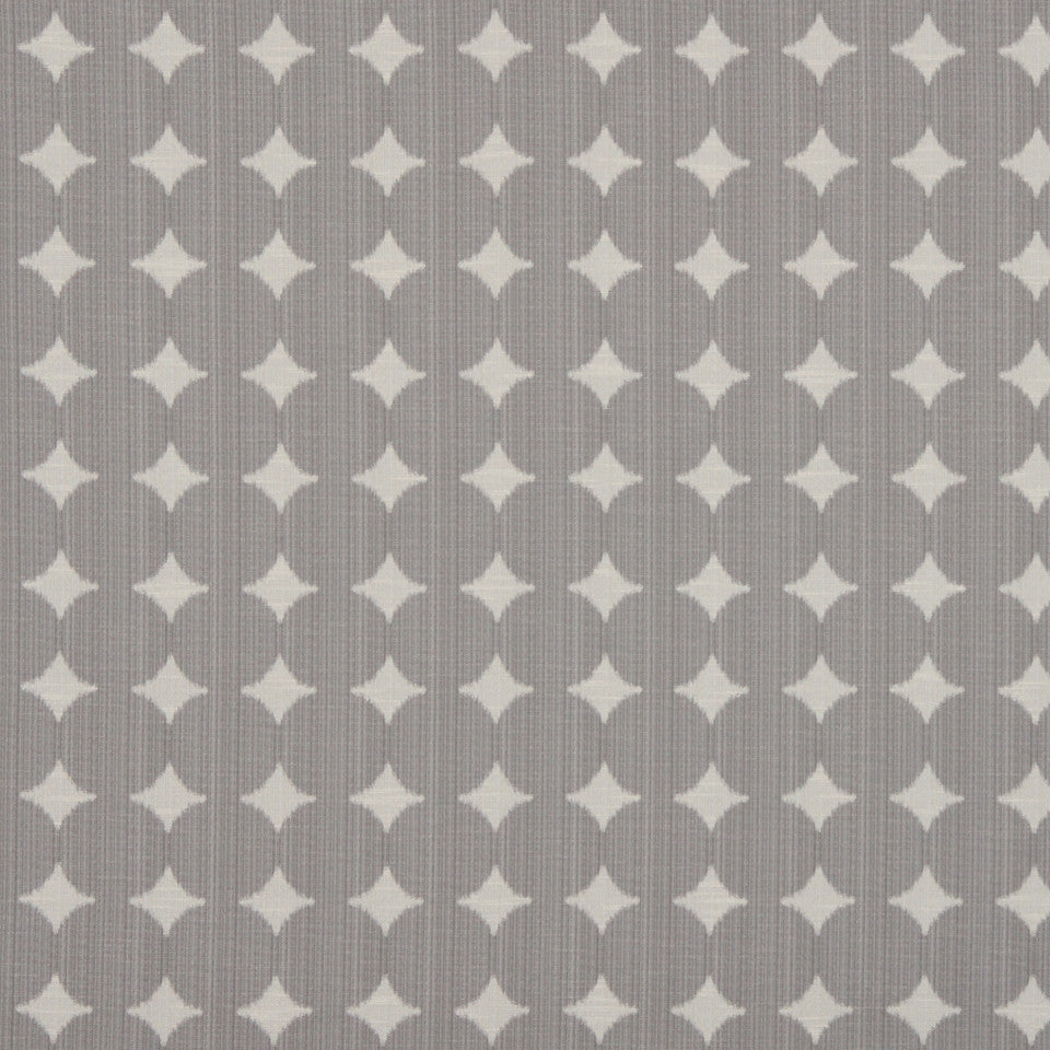 DWELLSTUDIO GLOBAL MODERN LUXE Ikat Dot Fabric - Pewter