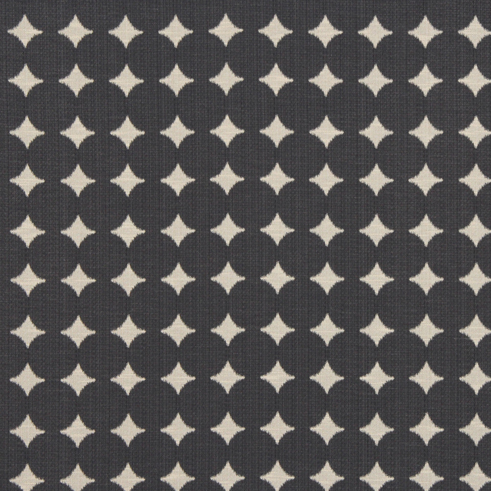 DWELLSTUDIO GLOBAL MODERN LUXE Ikat Dot Fabric - Black